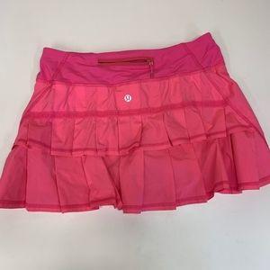 LULULEMON Hot Pink Pace Setter Skort Ruffled 4